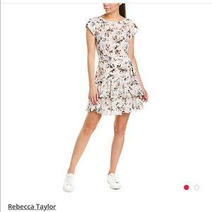 Rebecca Taylor Sofia Silk A-Line Dress